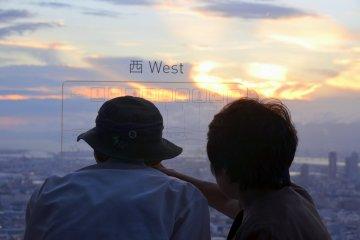 <p>Admiring sunset</p>
