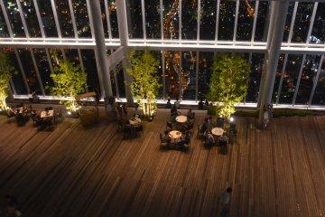 <p>Open-air plaza of Sky Garden</p>
