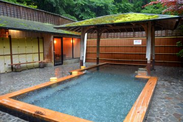 <p>Outdoor bath of Kurama&nbsp;Onsen</p>