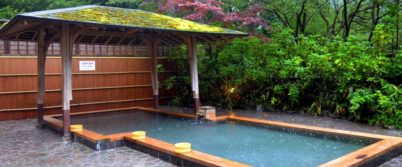 Outdoor bath of Kurama Onsen