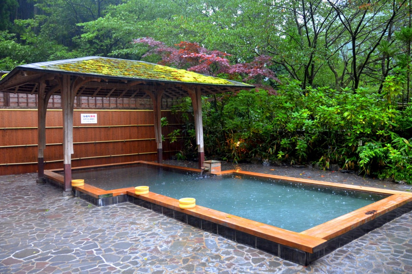 Outdoor bath of Kurama Onsen