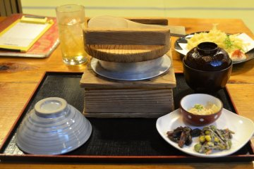 <p>Jidori Sansai comes with side dish of well-marinated vegetables and soup.</p>