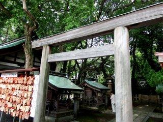 Lối vào cổng torii đến 'Kusha-no-miya (Chín đền)'