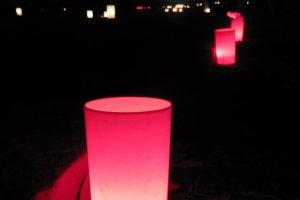 Les bougies colorées sont elles aussi du meilleur effet