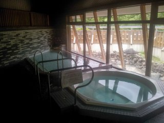The inside of the men's baths