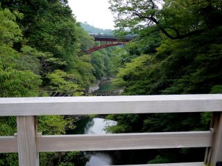Other more modern bridges span the gorge near Saruhashi