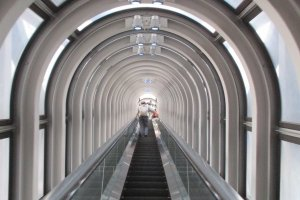 The escalator can be both fascinating and frightening