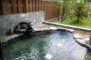 The outdoor stone bath