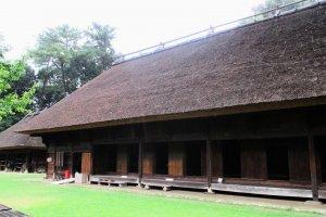 A farmhouse from Hyuga Shiiba in Miyazaki Prefecture where Kagura was performed