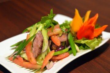 <p>NEUR JIM JAEW (Grilled sirloin Thai style)</p>