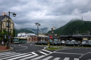 Low cloud made the hills around Otsuki look mysterious and moody