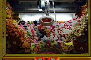 UFO Catchers débordant de peluches