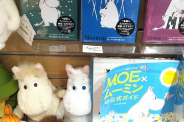 <p>Here you can buy &quot;The Delightful Moomin Family&quot; DVDs, stuffed animals and magazines&nbsp;</p>