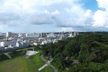 <p>Balcony view overlooking the city</p>