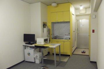 <p>Small kitchen area</p>