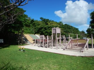 A playground for kids on the western side of the park