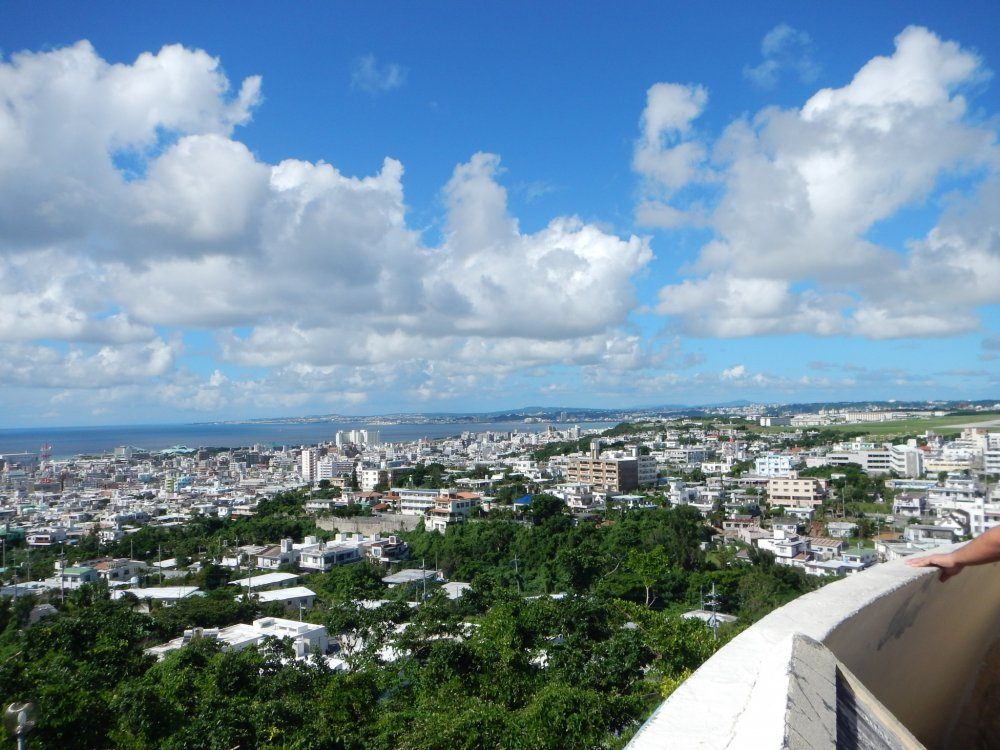 A view atop the peace tower of the western side of the island.