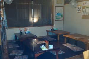 main table area, Japanese style
