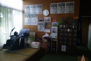 The tatami resting area.