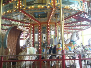 A double decker merry-go-round