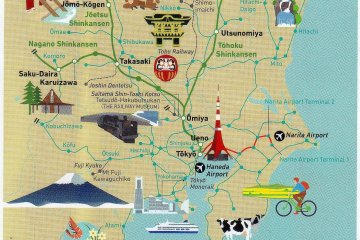 <p>Popular tourist destinations around Tokyo covered by JR Kanto Area Pass (from the JR pamphlet)</p>