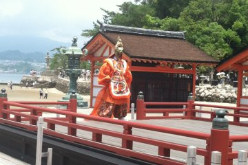 <p>Bugaku is often performed at marriage ceremonies at Itsukushima&nbsp;Shrine</p>