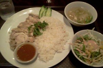 <p>Khao man gai lunch set</p>