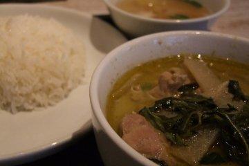 <p>Green curry at Gapao Shokudo</p>