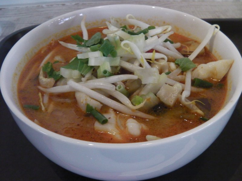<p>A delicious bowl of tom yum</p>