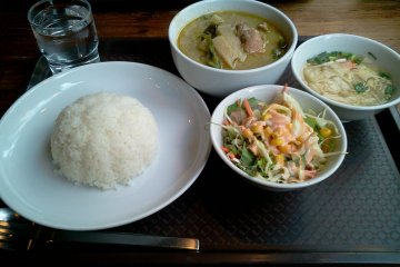 <p>Lunch served fresh and delicious</p>