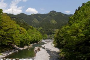 The wonderful Tama River around Mitake Station