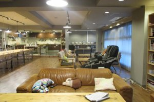 The lounge and kitchen area can be a great place to interact with other residents