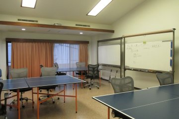 <p>Classes are often held in the shared office</p>