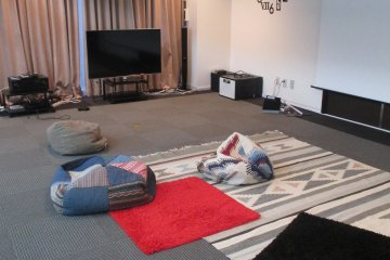 <p>The lounge in the multi-purpose room is cushioned and comfortable</p>