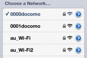 成功使用电话连接docomo Wi-Fi。