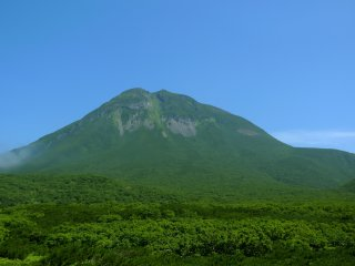 The highest mountain in the Shiretoko Peninsula