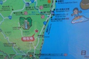 Tsuno Winery on a map