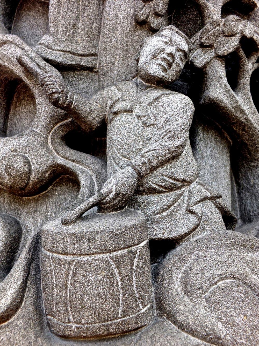 Tượng người đánh trống - Kanteibyo, Phố Tàu thuộc Yokohama
