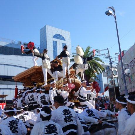 เทศกาล Danjiri Matsuri ที่โอซาก้า
