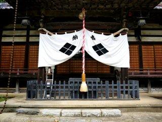 The shrine's bell rope