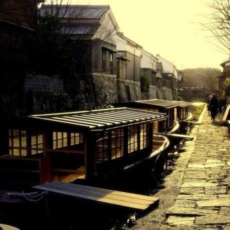 Omi-Hachiman Canal in Winter