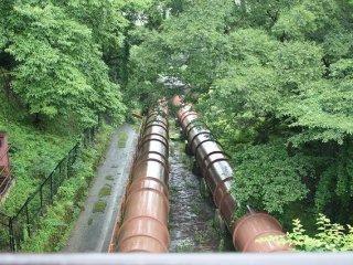 水力発電のための送水管