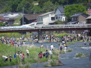 Niimi Fishing Festival held every year on May 5th Children's Day, Niimi City