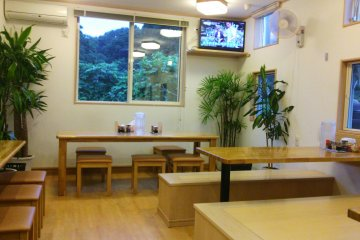 <p>The restaurant is rather small, but bright and welcoming</p>