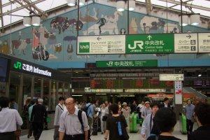 Access the internet at major JR train stations