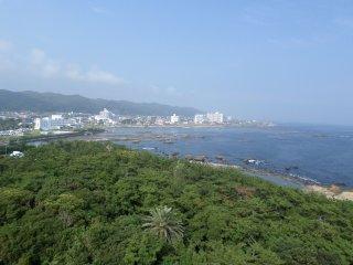 Khung cảnh Minamiboso nhìn từ Hải đăng Nojimasaki.