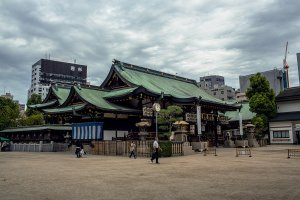 The main building complex of Osaka Tenmangu