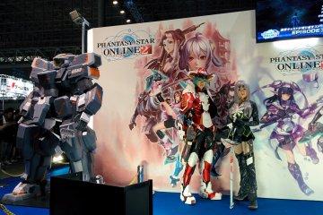<p>Phantasy Star at the Sega booth</p>