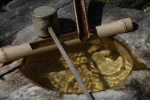 Pure, clear water, important for the Japanese Tea Ceremony