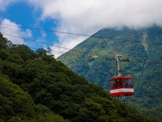 Akechidaira Plateau has a ropeway and observation deck to view the valley below and the lake beyond Kegon Falls.